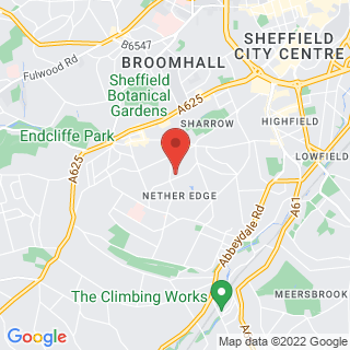 Archery Sheffield - Nether Edge Location Map
