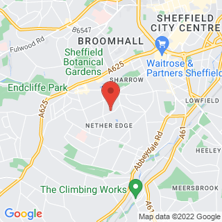 Axe Throwing Sheffield - Nether Edge Location Map