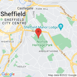 Bubble Football Sheffield 2 Location Map