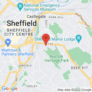Combat Archery Sheffield Location Map