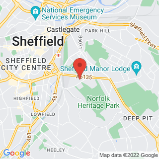 Bubble Football Sheffield, Park Hill  Location Map