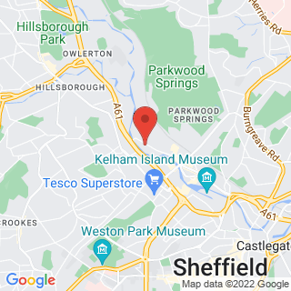 Karting Sheffield, South Yorkshire Location Map