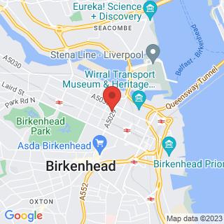 Bubble Football Birkenhead Location Map