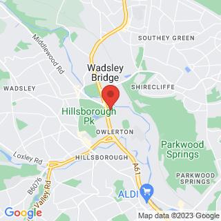 Bubble Football Hillsborough Location Map