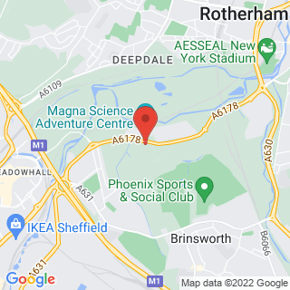 Bungee Jumping Sheffield Location Map