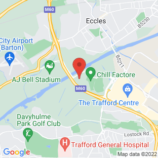 Bubble Football Trafford, Manchester Location Map