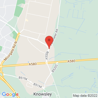 Paintball Knowsley Location Map