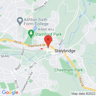 Flight Simulation Stalybridge, Cheshire Location Map