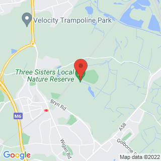 Driving Experiences Wigan Location Map