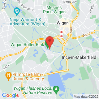 Airsoft Wigan, Lancashire Location Map