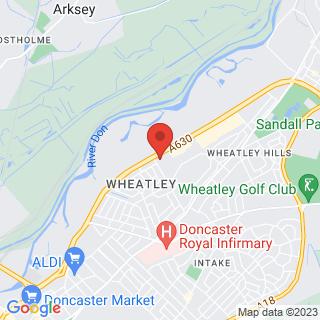 Combat Archery Doncaster, South Yorkshire Location Map