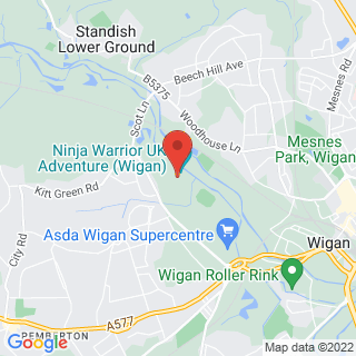 Bubble Football Wigan, Lancashire Location Map