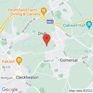 Combat Archery Cleckheaton, West Yorkshire Location Map