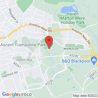 Extreme Trampolining Blackpool Location Map