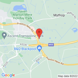 Paintball Blackpool Location Map