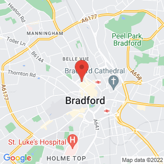 Axe Throwing Bradford, West Yorkshire Location Map