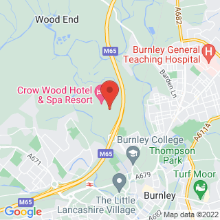 Bubble Football Burnley, Lancashire Location Map
