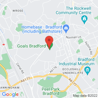 Bubble Football Bradford, West Yorkshire Location Map