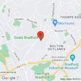 Bubble Football Bradford, West Yorkshire Location Map