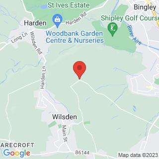 Axe Throwing Wilsden, Bradford Location Map