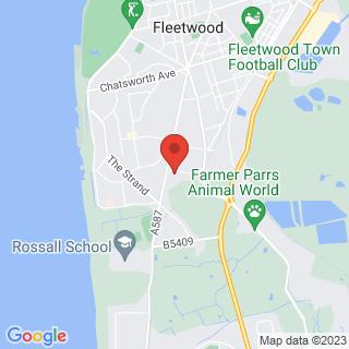 Bubble Football Fleetwood, Lancashire Location Map