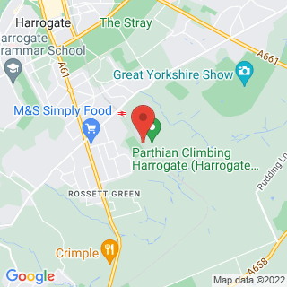 Indoor Climbing Walls Harrogate, North Yorkshire Location Map