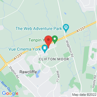 Combat Archery York, Clifton Moor Location Map