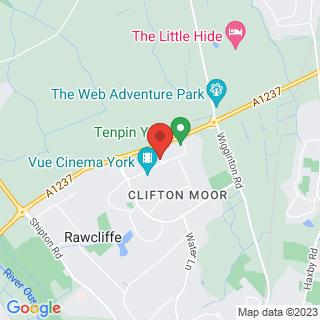 Bubble Football York, Clifton Moor Location Map
