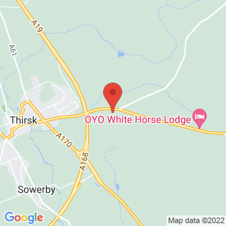 Clay Pigeon Shooting Thirsk, North Yorkshire Location Map