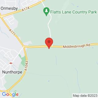 Paintball Teesside Location Map