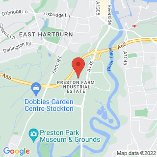 Bubble Football Stockton-on-Tees Location Map