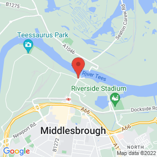 Bungee Jumping Middlesbrough Location Map