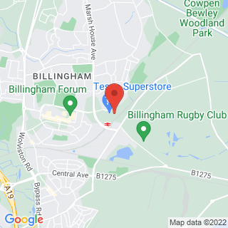 Indoor Paintball Billingham, Teesside Location Map
