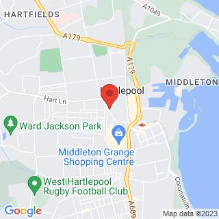 Bubble Football Hartlepool Location Map