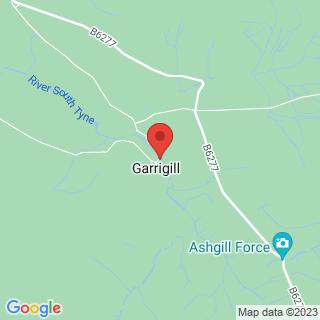 Canyoning Garrigill, Cumbria Location Map