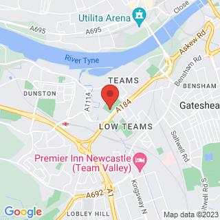 Bubble Football Gateshead Location Map