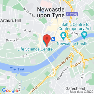 Axe Throwing Newcastle Location Map