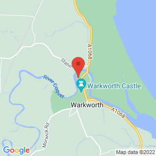Canoeing Warkworth Location Map