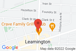 Map of 38 Erie St N, Leamington, Ontario - Leamington Central Walk-in Clinic - Leamington Central Walk-in Clinic