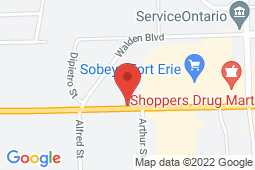 Map of 484 Garrison Rd, Unit 1, Fort Erie, Ontario - Dr Mitchell's Medical Walk-In Clinic - Dr Mitchell's Medical Walk-In Clinic