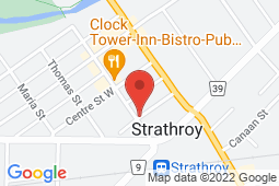 Map of 17 Frank St, Strathroy, Ontario - West Middlesex Walk-in Clinic - West Middlesex Walk-in Clinic