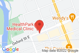 Map of 140 Oxford St E, Suite 102, London, Ontario - Oxford Medical Walk-In Clinic - Oxford Medical Walk-In Clinic