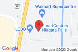 Map of 7481 Oakwood Drive, Niagara Falls, Ontario - Niagara Walk-In Clinic - Niagara Walk-In Clinic