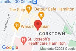 Map of 225 John St S, Hamilton, Ontario - John Street Medical Walk-In Clinic - John Street Medical Walk-In Clinic