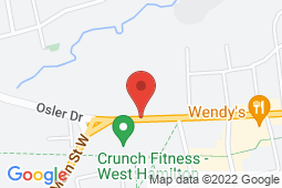 Map of 1685 Main St W, Unit 135B, Hamilton, Ontario - Primary Medical Clinics Nebo Medical Center - Primary Medical Clinics
