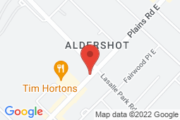 Map of 18 Plains Road West, Burlington, Ontario - Primary Medical Clinics Aldershot Walk-in Clinic - Primary Medical Clinics
