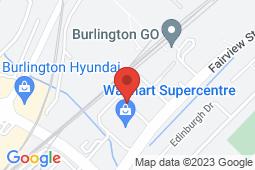 Map of 2065 Fairview St, Burlington, Ontario - Doctor's Office Walk-in Clinic - Doctor's Office Walk-in Clinic