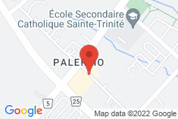 Map of 2525 Old Bronte Rd, Unit 190, Oakville, Ontario - Palermo Medical Centre Walk-in Clinic - Palermo Medical Centre Walk-in Clinic