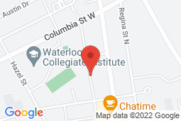 Map of 318 Spruce St, Unit 105, Waterloo, Ontario - Spruce Medical Walk-in Clinic - Spruce Medical Walk-in Clinic