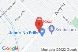 Map of 6521 Derry Rd W, Unit 8, Milton, Ontario - Milton Trails Medical Clinic - Milton Trails Medical Clinic